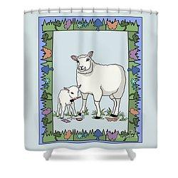 Sheep Artist Sheep Art Shower Curtain by Audra D Lemke