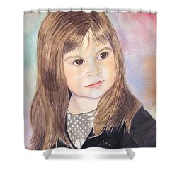 Shower Curtain featuring the painting Shelby by Carol Flagg