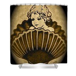 Shell With Child 2 Shower Curtain by Georgeta  Blanaru