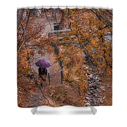 Shower Curtain featuring the photograph Alone Together by Tom Gort