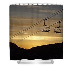 Shining Shower Curtain by Michael Cuozzo