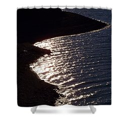Shining Shoreline Shower Curtain by Dorrene BrownButterfield