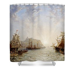 Shipping Off Scarborough Shower Curtain by John Wilson Carmichael