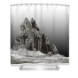 Shiprock Mountain Four Corners Shower Curtain by Jack Pumphrey