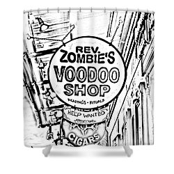 Shop Signs French Quarter New Orleans Photocopy Digital Art Shower Curtain by Shawn O'Brien