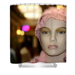 Shopping Girl Shower Curtain