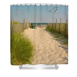 Shore Is Beautiful Shower Curtain