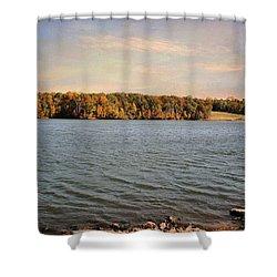 Shoreline Shower Curtain by Jai Johnson