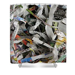 Shredded Paper Shower Curtain by Photo Researchers, Inc.