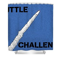 Shuttle Challenger  Shower Curtain by David Lee Thompson