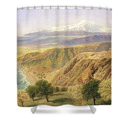 Sicily - Taormina Shower Curtain by John Brett