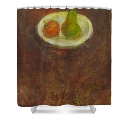 Shower Curtain featuring the painting Side By Side by Kathleen Grace