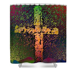 Shower Curtain featuring the photograph Sign Of The Cross by David Pantuso
