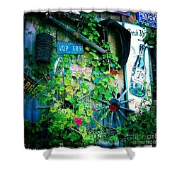Shower Curtain featuring the photograph Sign Wall by Nina Prommer