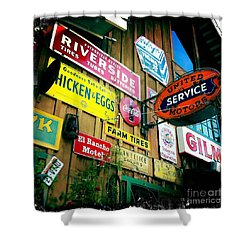 Shower Curtain featuring the photograph Signs Of A Great Place by Nina Prommer