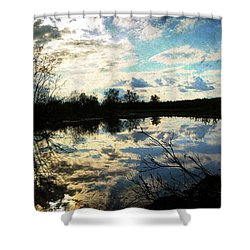 Silence Of Worms Shower Curtain by Jerry Cordeiro