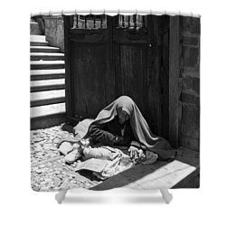 Silent Desperation Shower Curtain by Lynn Palmer