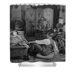Silent Film Set, 1920s Shower Curtain by Granger