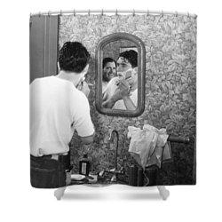 Silent Film Still: Beards Shower Curtain by Granger