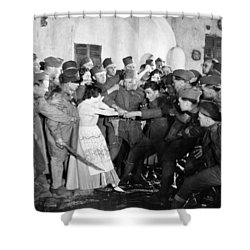 Silent Still: Army & Navy Shower Curtain by Granger