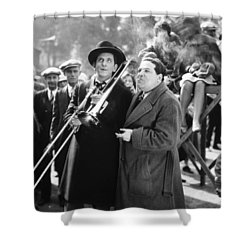 Silent Still: Musicians Shower Curtain by Granger