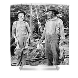 Silent Still: Old People Shower Curtain by Granger