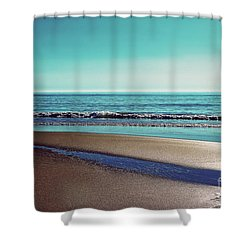Silent Sylt - Vintage Shower Curtain by Hannes Cmarits