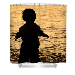 Silhouette Of A Child 1 Shower Curtain by Carole Lloyd