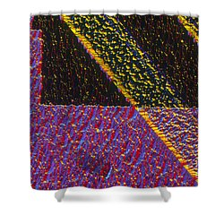 Silicon Solar Cell Shower Curtain by Michael Abbey and Photo Researchers