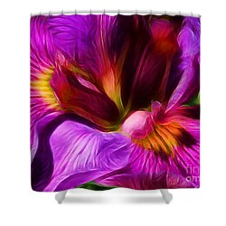 Silk And Satin Shower Curtain by Judi Bagwell
