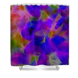 Silk In The Garden Shower Curtain by Judi Bagwell