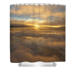 Silver Lake Sunrise Shower Curtain
