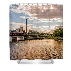 Shower Curtain featuring the photograph Silver Lake by Tom Gort