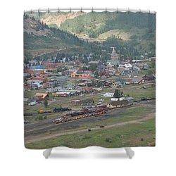 Silverton Colorado Painterly Shower Curtain by Ernie Echols