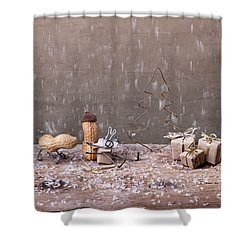 Simple Things - Christmas 07 Shower Curtain by Nailia Schwarz