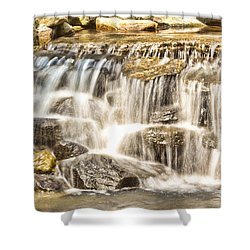 Simple Yet Powerful Waterfall Shower Curtain by Daphne Sampson
