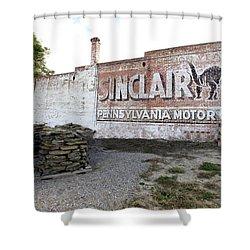 Sinclair Motor Oil Shower Curtain