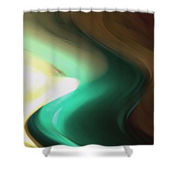 Shower Curtain featuring the mixed media Sine Of Ninety by Terence Morrissey