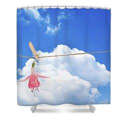 Single Fuchsia Head Shower Curtain by Amanda Elwell