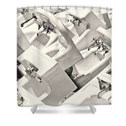 Sinking Shower Curtain by Patrick M Lynch