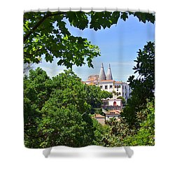 Sintra National Palace Shower Curtain by Carlos Caetano