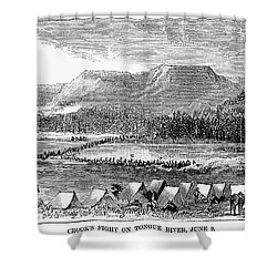 Sioux War: Tongue River Shower Curtain by Granger