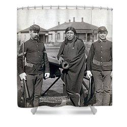 Sioux Warrior, 1891 Shower Curtain by Granger