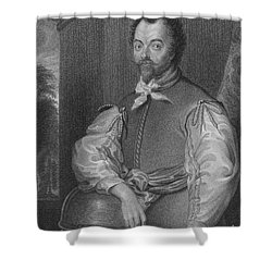 Sir Francis Drake, English Explorer Shower Curtain by Photo Researchers