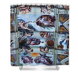 Sistine Chapel Ceiling Shower Curtain by Bob Christopher