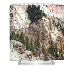 Sit For A Spell At Grand Canyon In Yellowstone Shower Curtain by Living Color Photography Lorraine Lynch