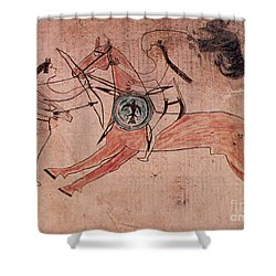 Sitting Bull Wins His First Battle Shower Curtain by Photo Researchers