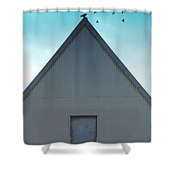 Shower Curtain featuring the photograph Sitting On The Peak by Kathleen Grace