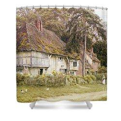 Six Bells Hollingbourne Kent  Shower Curtain by Helen Allingham