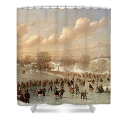 Skating Scene Shower Curtain by Johann Mongels Culverhouse